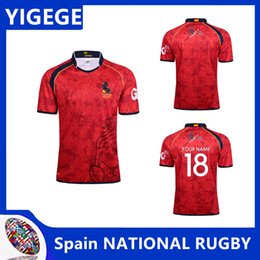 7ea35bbc310 SPAIN 2017 18 HOME RUGBY JERSEY shirts,spain Rugby Jersey T-shirts,Tops  Quality Breathable Breathable SportWear Red size S-3XL(can print)