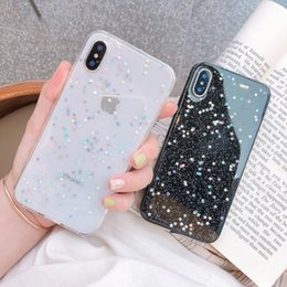 herz-fall bling Rabatt Ottwn Glitter Phone Case für iPhone 11 Fall 11 Pro XS Max XR X 6 6s 7 8 Plus Love Heart Stern Pailletten Weiche Bling Löschen Cover Capa