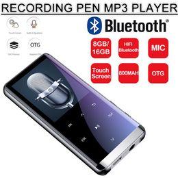 2019 сенсорный экран 8gb OTG Mp3-плеер Диктофон Bluetooth4.2 Сенсорный Экран 1.8inch Мини 800 мАч С Wi-Fi HIFI 5D 8 ГБ / 16 Г Ультра Тонкий Hi-Fi Mp3-плеер дешево сенсорный экран 8gb