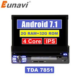 """Eunavi Individual 1 Din 7"""" Android 7.1 Quad Core Radio Car PC Stereo Navegação GPS Universal 1024 * 600 HD Unidade Chefe Wifi USB NO dvd carro DVD de Fornecedores de redes telefônicas alemãs"""