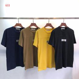 Sudaderas verde del ejército online-Nuevo 4 colores de moda para hombre camiseta de manga corta Hip Hop sudaderas ropa casual negro amarillo azul marino verde militar camiseta de las mujeres # 633
