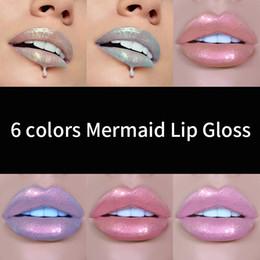 farbiger lippenstift Rabatt HANDAIYAN 7 Farben Meerjungfrau Lipgloss Lip Tint Feuchtigkeitsspendende Langanhaltende Lipgloss Lip Batom Maquiagem Makeup Q170