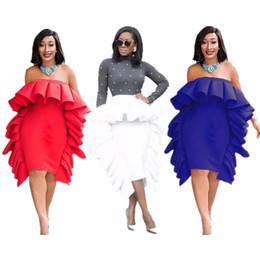 Diseñador de las mujeres por encima de la rodilla falda sin mangas vestido de una pieza vestido flaco de alta calidad sexy elegante moda de lujo fuera del hombro falda 0296 desde fabricantes