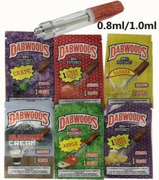 Holzpaket online-DABWOODS Vape-Patronen DabWoods Carts 1 ml 0,8 ml Keramikspule Vape-Patrone mit Geschmacksverpackungsbeutel Holztropfspitzen Vaporizer-Zerstäuber