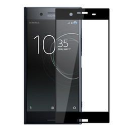 Protector de pantalla sony xperia z5 online-Para Sony XA2 Vidrio templado de cubierta completa para Sony Xperia XZ3 XZ2 XZ1 Compact XA1 Ultra X compact XP Z5 XA 9H Protector de pantalla duro Película protectora