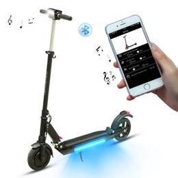 2019 scooters électriques pliants Smart 8,5 pouces électrique Scooter 7.8Ah Planche à roulettes Pliant Scooter électrique Adulte 30km / h NOIR avec APP promotion scooters électriques pliants