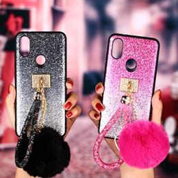 Блестящий кожаный чехол онлайн-Чехол для Huawei P20 Honor 8c 8x 10 облегченный bling чехол с блестками Волосы кролика Лучшее качество Кожаный женский телефон Чехлы для Huawei mate 20 pro