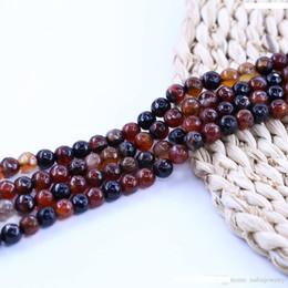 PCS pierres précieuses fabrication de bijoux Banded Agate Facettes Perles Rondes 12 mm bleu 30