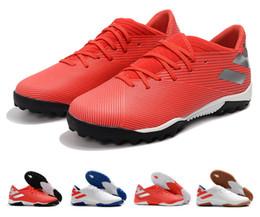 zapatos de fútbol de interior messi Rebajas 2019 Recién llegado Nemeziz Messi 19.3 TF IC Indoor Turf 19 + x zapatos de fútbol para hombre Botas de fútbol Botines Tamaño 6.5-11