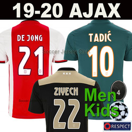c29aad3df5b 19 20 Maglia da calcio AJAX FC DE JONG TADIC DE LIGT ZIYECH VAN BEEK NERES  DOLBERG MEN KIDS uomini bambini soccer jersey Thailand quality 2018 2019  2020 ...