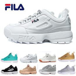 Fila economicasneakers Disruptors scarpe casual Triple bianche nere grigie rosa Sneakers sportive da donna sezione speciale aumentato 36 44