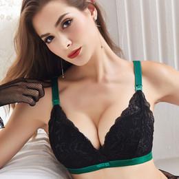 4a350fc7a Mulheres grávidas Sexy Sutiã de Amamentação de Algodão Sutiã Alimentar  Lactação Lace Underwear Fio Livre Superior Open-button Bra Ajustado-alças  Y19052003
