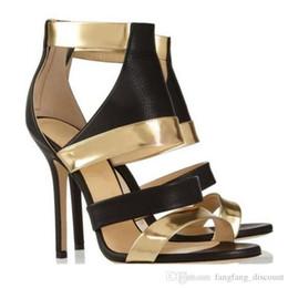 farbe sommer stiefel Rabatt Frühling Sommer neue europäische amerikanische Open Toe Farbe passend High Top High Heel Stiletto Slip-on Reißverschluss Größe Frauen coole Stiefel