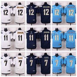 13 maillots d'élite en Ligne-Diego Chargers Nouveaux # 13 Keenan Allen 12 Travis Benjamin 11 Stevie Johnson 7 Doug Flutie Elite Maillots de football