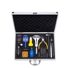 Outils de kits de réparation de montre professionnelle en Ligne-Ensemble d'outils de réparation de montres élégantes Horloger professionnel Ouvreur de boîtier dédié Tournevis de précision Petit marteau Outils de montre