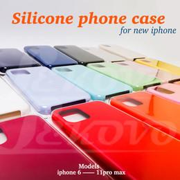 Canada Haut de cas Qulity silicone ont logo iPhone / 11 pro max 11 / XR / XS XSmax / 8 / 8plus Samsung S9 / S10 en option avec le paquet détail Offre