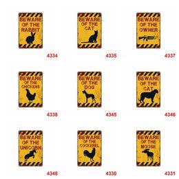 Posters perros online-Souvenir retro Cartel de chapa animal conejo perro cuidado Advertencia 20 * 30 cm Carteles de chapa de metal para la colección 4rjy