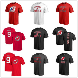 2019 изготовленные на заказ nhl jerseys 17-18 новый сезон НХЛ Нью-Джерси Девилз AD 13 Nico Hischier 9 HALL ANY CUSTOM Футболка с именем и номером игрока скидка изготовленные на заказ nhl jerseys