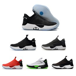 bequeme basketball-turnschuhe Rabatt NIKE Adapt BB Men High Black Red Sports Mens Basketball Shoes For High Quality Mens Comfortable Fashion men Sneakers Chaussure Size 40-45