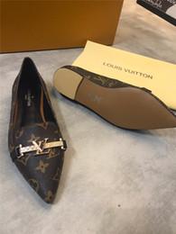 Scarpe da festa piatta online-Top lussuose scarpe basse da donna fashion butterfly-knot punta quadrata in pelle ballerine big size 4,5-9 basse scarpe basse da donna