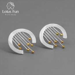 Lotus Fun Echt 925 Sterling Silber Handgemachte Edlen Schmuck Oriental Element Vintage Vorhang Ohrstecker Acessorios Für Frauen Y19052401 von Fabrikanten