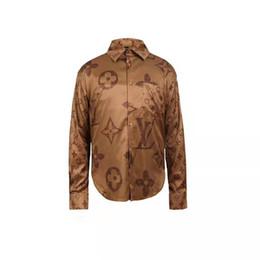 colar material camisa Desconto Nova marca de moda masculina clothing novo designer de camisa de cor padrão de impressão dos homens magros camisa casual sra medusa dress tops