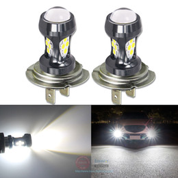 auto lamps 24v Promo Codes - Eseastar 2Pcs Car Front Fog Lights DRL Daytime Running Light H7 LED Bulbs High Power 2000LM White Yellow Auto H 7 Lamp 12-24V