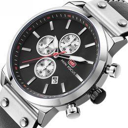 Canada Top Marque Chronographe Hommes Montres De Sport Hommes Quartz Analogique Date Horloge Mâle En Cuir Bracelet En Cuir Montre-Bracelet Offre