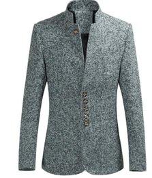 куртка мужская коричневая Скидка Дизайнер Mens Тонкий Пиджаки Мода Плюс Размер Solid Color Coat Mens Роскошные длинные рукава костюмы