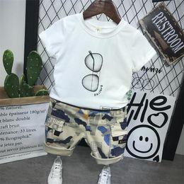 chándal niña de 2 piezas Rebajas Baby Boy Clothes Summer camiseta de manga corta + pantalones cortos de camuflaje 2 piezas trajes niños niñas ropa Set Sport Tracksuit 2-6year
