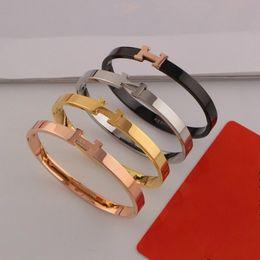 Colliers en bracelets en Ligne-Designer Marque Couple bracelet De Mode Luxuries H Lettre bracelet colliers Titane 18 K En Acier Plaqué Femmes Bracelet pour Cadeau D'anniversaire