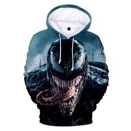 0d296bbf8 hero hoodie Promo Codes - 2019 Unisex Venom Hoodies 3D Print Long Sleeve  Superhero Streetwear Novelty