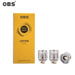 kits de iniciação para vaping Desconto OBS Cube Kit Bobina OBS Draco M1 Bobinas de Malha 5 unidades / pacote Resistência 0.2ohm Para Draco Starter Kit E-cigs Vaping Tank 100% Autêntico