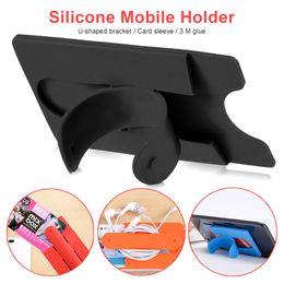 Telefonhalter berühren u online-Silikon-Touch-U Typ Bandage Kartenabdeckung Halter-Telefon-Halter Ständer Lazy Stent universal für Handy