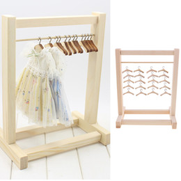 Handmade All Doll Clothes Hanger Wood Furniture Coat Hanger Model Toy Gift In CA