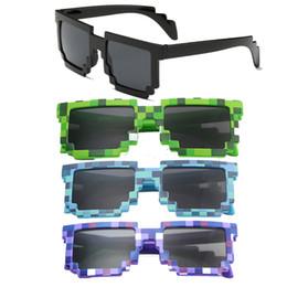 Óculos de sol Pixel Pixelated Partido Mosaico Shades Props Foto Brinquedo Presente Novidade Das Mulheres Dos Homens Unisex de Fornecedores de cílios espessos naturais