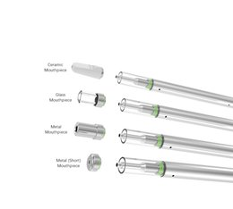 micro bobina vape Rebajas Plumas desechables Vape Bobina de cerámica Aceite Pluma D1s 0.5 ML Atomizador 310mAh E Cig Batería BUD E Cigarrillos Kits Vape Micro USB con punta de vidrio