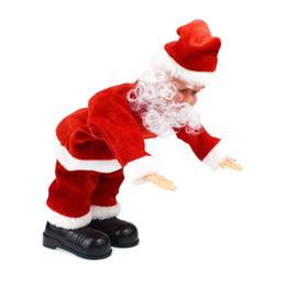 bonecos de bateria Desconto Elétrica Papai Noel Toy Dolls with Music para o Natal Decorações dos presentes Excluir Baterias
