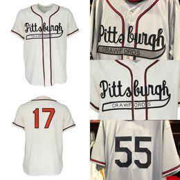 2019 trajes brancos Pittsburgh Crawfords Jersey Homens Mulheres Juventude Costume Piratas Crawfords Branco Cinza Camisas de Beisebol S para 3XL Frete Grátis desconto trajes brancos
