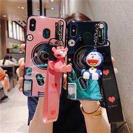 huawei honor pro Rebajas Caja del teléfono con cámara retro 3D para Huawei P30 Pro P20 Mate 20 Lite 10 para Honor 20 Pro V20 9X Pro 8x Max 20i Linda funda con cordón