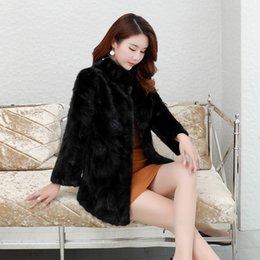 casacos de peles pretos genuínos Desconto Preto Luxury Real Coats Mulheres 2020 novas roupas de inverno quente grossa Natural Fur Jacket Casacos Genuine Fur Coat Feminino