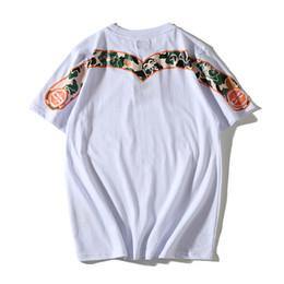 Chemise blanche manches camouflage en Ligne-Evisu Mens T Shirt Designer De Luxe D'été Hommes Streetwear Manches Courtes Hommes Femmes Camouflage Impression Tees Noir Blanc