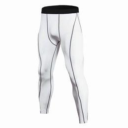 Pantalons de compression pour hommes en cours d'exécution Hommes Sports maigres Leggings Crossfit Base Layer Pantalons Gym Jogging Pantalon vert fluorescent ? partir de fabricateur