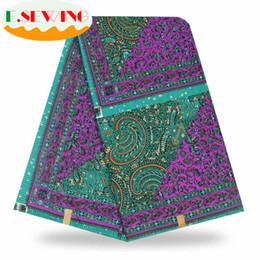 2019 ткань для пейсли Esewing African Wax Print Fabric Dutch  Apparel Sewing Ankara African Fabric Nigerian Cotton 6 Yards Cloth 06