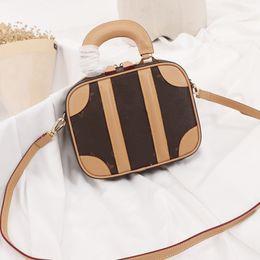 2019 tarjeta de pato Diseñador de lujo crossbody bolsos de hombro solo bolsos 19 mini equipaje vintage clásico mujeres lienzo envejecido VVN cuero real bolso de la señora