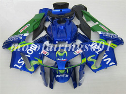 2019 nuevos carenados de honda cbr Molde de inyección libre personalizado Nuevos kits de carenados de motocicleta ABS aptos para HONDA CBR600 2005 2006 CBR600RR F5 CBR 05 06 azul Movistar rebajas nuevos carenados de honda cbr