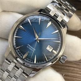 2019 спортивные наручные часы Известные моды в Японии мужские часы синий циферблат автоматические механические мужские часы из нержавеющей стали мужские наручные часы бизнес спорт скидка спортивные наручные часы