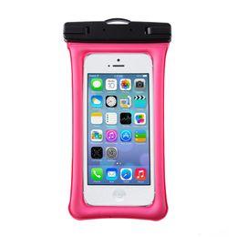 Modelos de cajas móviles online-2019 nuevo bolso impermeable para teléfono móvil para iphone 6plus 7 8p Huawei todos los modelos Caja de teléfono con bolsa de aire de 6.1 pulgadas flotando con cordón