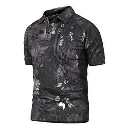 2019 homens do exército Moda-Verão Escalada Ao Ar Livre Caça Caminhadas Secagem Rápida Undershirt Esportes Pullover T-Shirt dos homens Tático Do Exército de Manga Curta Pólo Camisa homens do exército barato