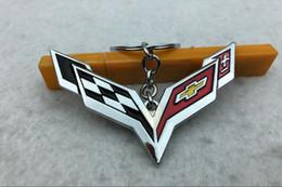 Chevrolet geschenke online-Beliebt für Chevrolet Corvette Schlüsselbund, Auto 4S Shop kleines Geschenk bevorzugt, personalisierte kreative Metall Auto Schlüsselbund